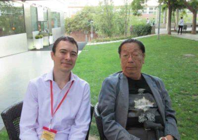 Joan Piquer y Masaru Emoto el cual era un gran simpatizante de Reiki japones