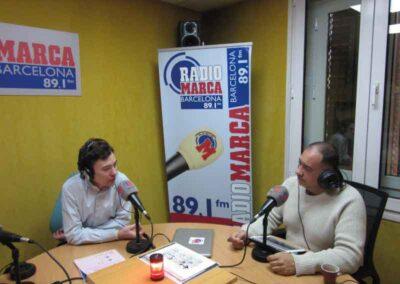 En Radio Marca Joan fue un colaborador habitual para hablar de Reiki con Alfonso Trinidad.